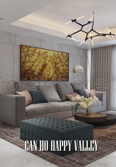 Thiết kế nội thất căn hộ Happy Valley hiện đại sang trọng