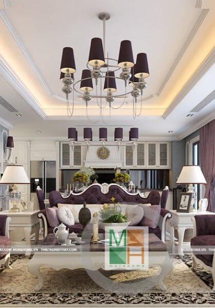 Thiết kế nội thất chung cư Imperia Garden Phong Cách Tân Cổ Điển