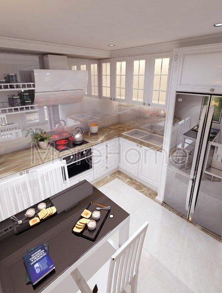 Thiết kế nội thất phòng bếp showroom áo cưới Calla Lily Vũng Tàu