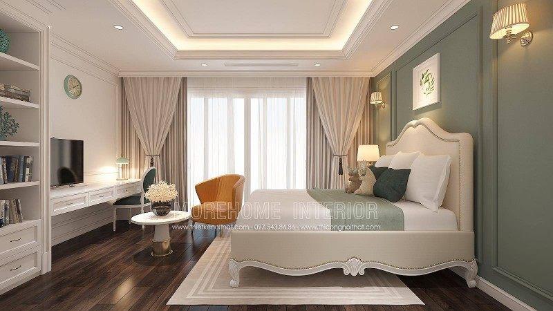 Thiết kế phòng ngủ bé trai nhà liền kề la khê an hưng hà đông