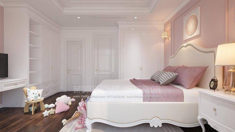Thiết kế nội thất phòng ngủ bé gái nhà liền kề an hưng la khê hà đông