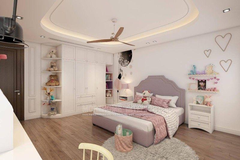 Thiết kế nội thất phòng ngủ trẻ em cho nhà lô tại hồng bàng hải phòng