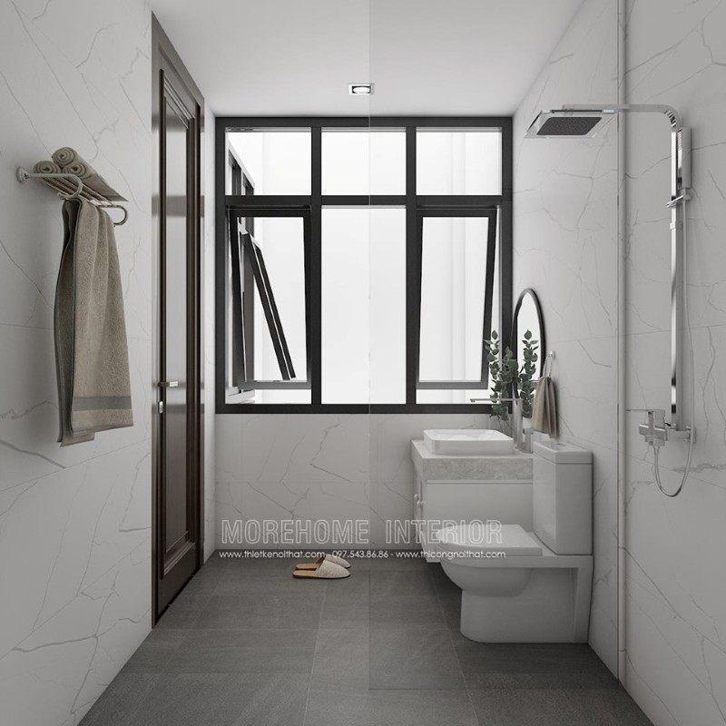 Thiết kế phòng tắm nhà vệ sinh nhà lô tại sở dầu hồng bàng hải phòng