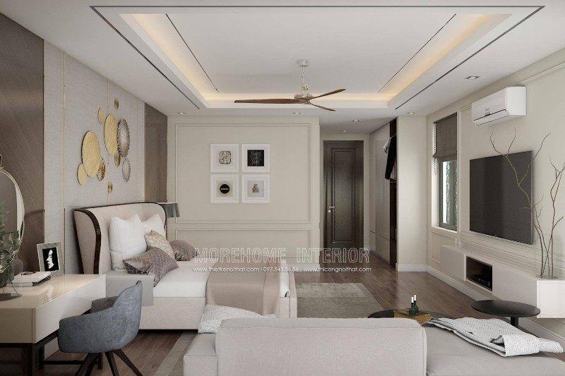 Thiết kế nội thất phòng ngủ cho nhà lô tại sở dầu hồng bàng hải phòng