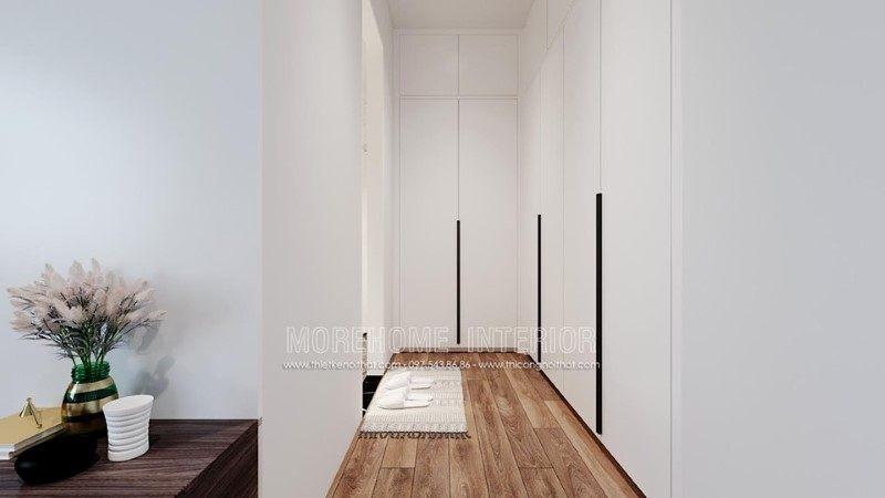 Tủ quần áo gỗ công nghiệp hiện đại cho nhà phố trần bình