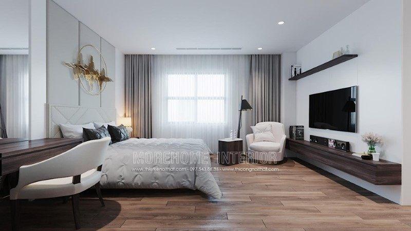 Thiết kế nội thất phòng ngủ nhà phố trần bình