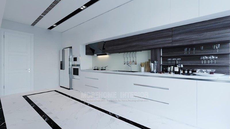 Tủ bếp hiện đại cho nhà phố trần bình