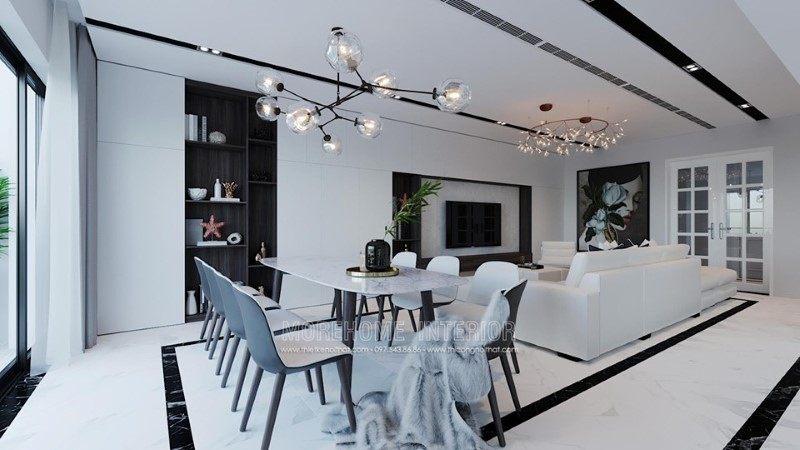 Thiết kế nội thất phòng ăn nhà phố trần bình