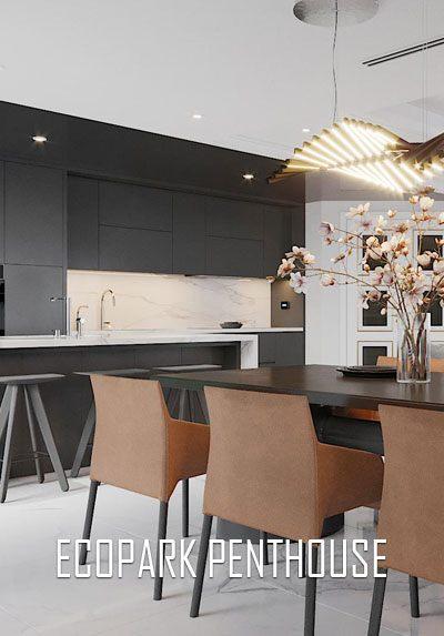 Thiết kế nội thất cao cấp ấn tượng với phong cách hiện đại tại Penthouse Ecopark