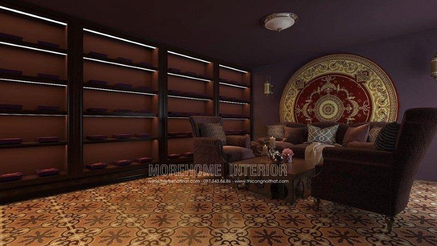 Thiết kế nội thất showroom saffron nha trang