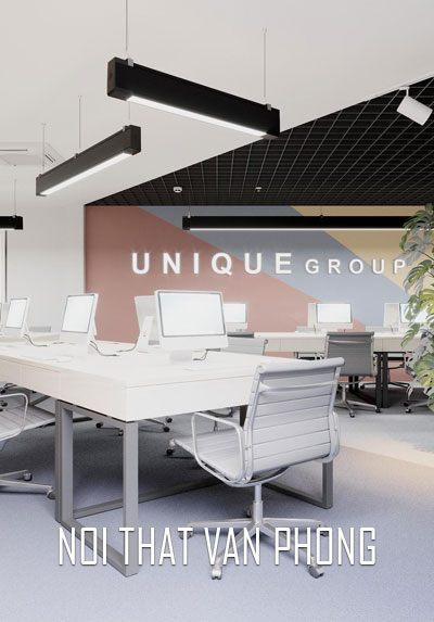 Thiết kế nội thất văn phòng phong cách hiện đại, trẻ trung, sang trọng.