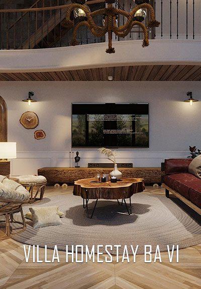 Thiết kế nội thất VILLA HOMESTAY đẹp, độc đáo tại Bà Vì