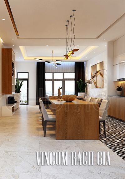 Thiết kế nội thất tại Vincom Rạch Giá hiện đại, phong cách, sang trọng