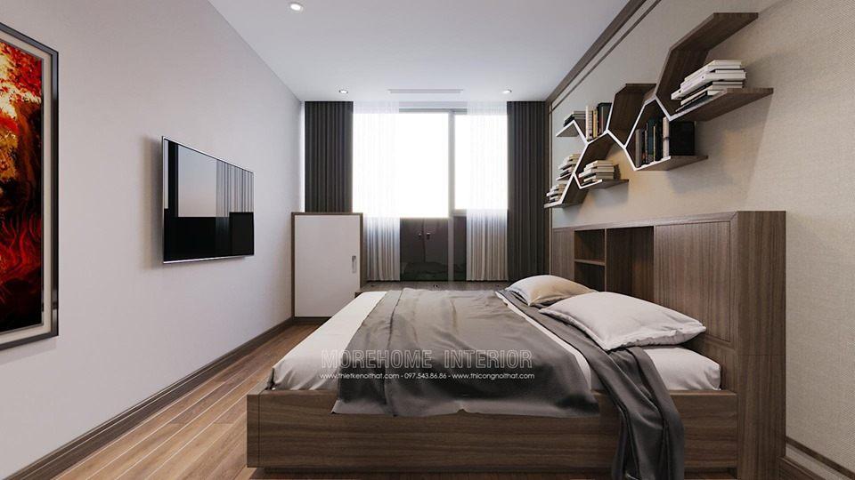 Thiết kế nội thất phòng ngủ chung cư Vinhomes Skylake phạm hùng phong cách nhật