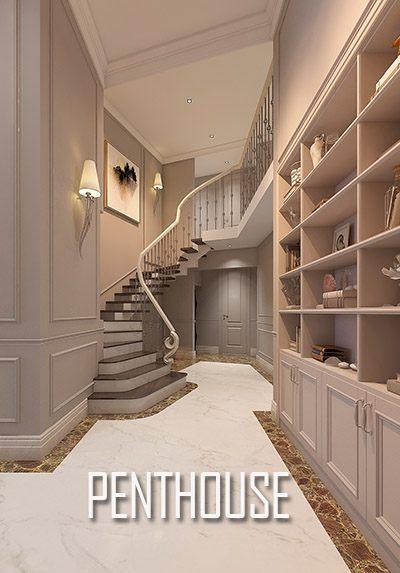 Thiết kế căn hộ cao cấp Pentshouse Keangnam tân cổ điển sang trọng
