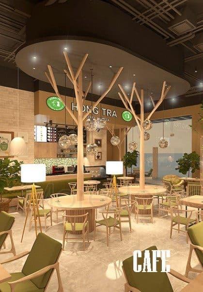 Thiết kế nội thất quán cafe & trà đạo tại Hà Nội đẹp, độc đáo