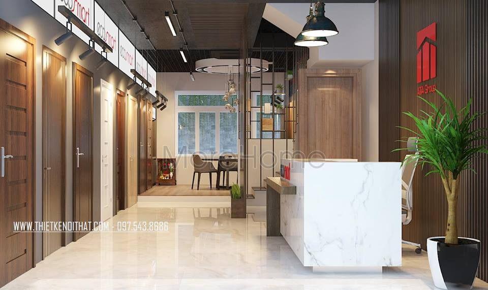 Thiết kế showroom cửa gỗ công nghiệp ata