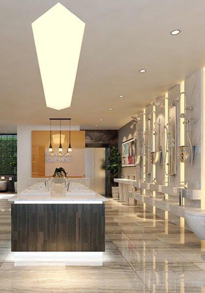 Thiết kế nội thất showroom thiết bị vệ sinh cao cấp