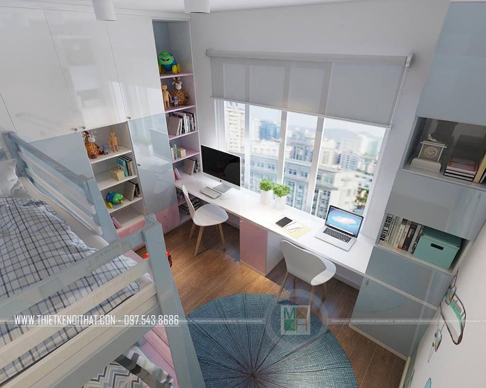 Nội thất phòng của con căn hộ mẫu Imperia Garden