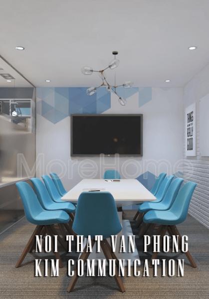 Thiết kế nội thất văn phòng Kim Communication hiện đại, sáng tạo