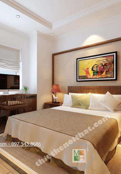 Thiết kế chung cư Gỗ Việt ấm cúng tại Golden Palace - Nhà Anh Nhiên