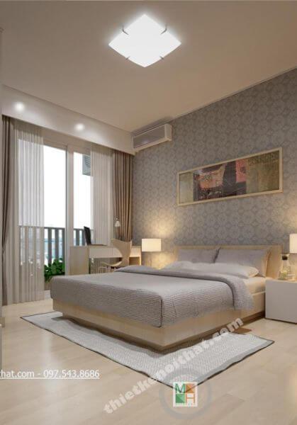 Thi công nội thất chung cư Golden Palace hiện đại đẹp - Căn B7