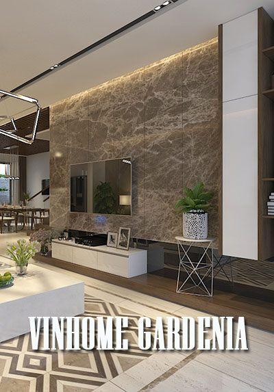 Thiết kế biệt thự hiện đại Vinhomes Gardenia hiện đại với tone xám