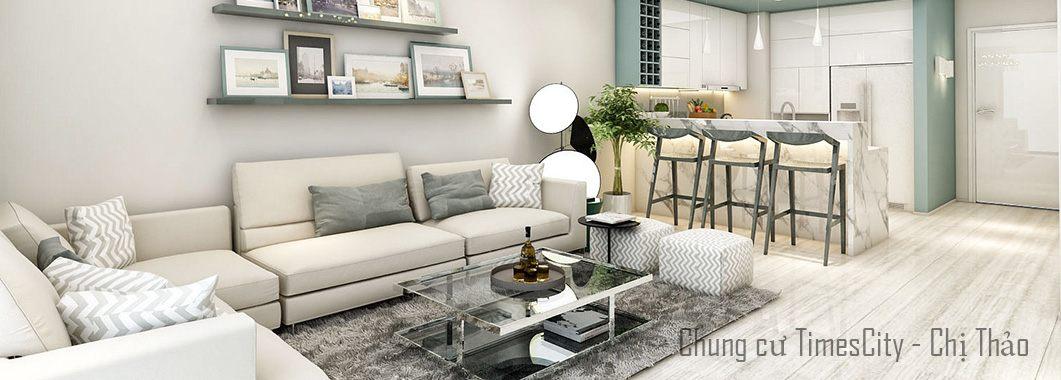 Thiết kế nội thất phòng khách chung cư Timescity Hai Bà Trưng