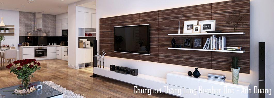 Thiết kế nội thất phòng khách chung cư Thăng Long Number One Viglacera Nam Từ Liêm