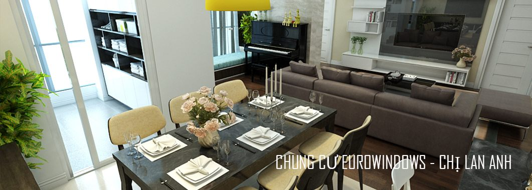 Thiết kế nội thất phòng ăn Chung cư EuroWindow Nguyễn Chí Thanh