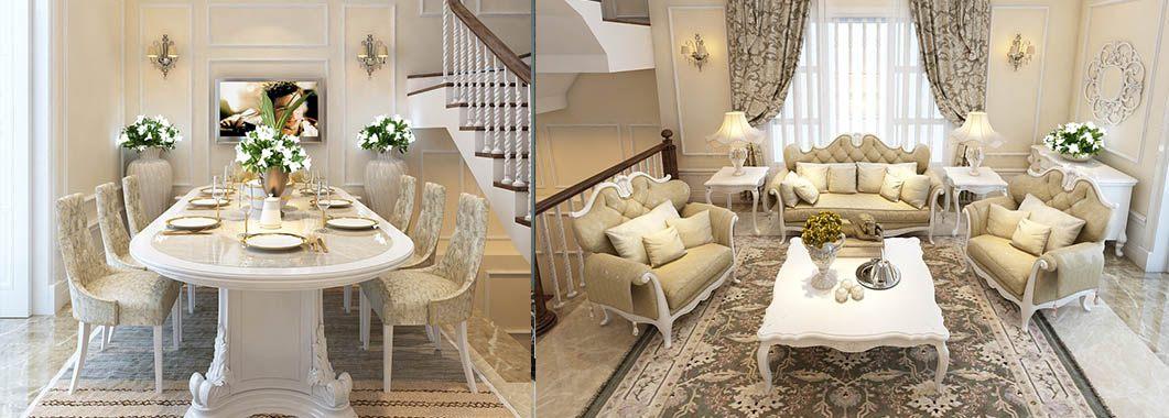 Thiết kế nội thất biệt cao cấp thự Vinhome Riverside Hoa Sữa