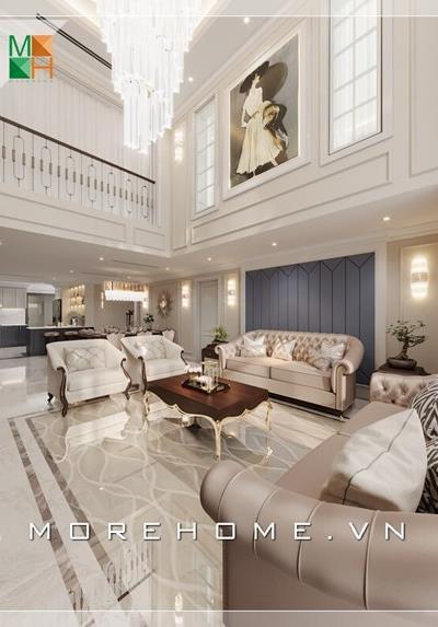 Thiết kế nội thất căn hộ duplex cao cấp tại New Skyline