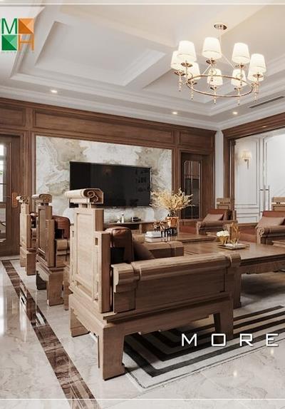 Thiết kế nội thất biệt thự cao cấp tại Hưng Yên - Nhà An Dũng