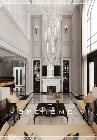 Thiết kế nội thất biệt thự cao cấp tân cổ điển Marina Hải Phòng