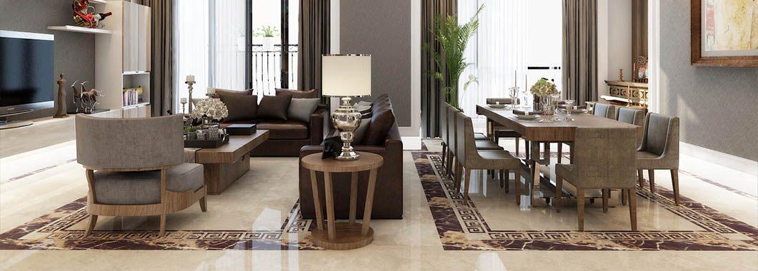 Thiết kế nội thất chung cư Royal City phong cách tân cổ điển sang trọng
