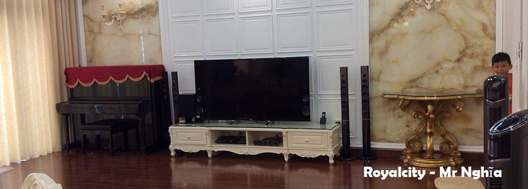 Thi công nội thất phòng khách chung cư cao cấp Royal City Nguyễn Trãi Thanh Xuân Hà Nội