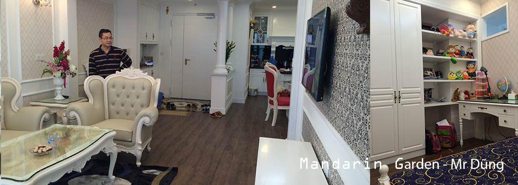 Thi công nội thất phòng khách chung cư Mandarin Garden Hoàng Minh Giám Cầu Giấy Hà Nội