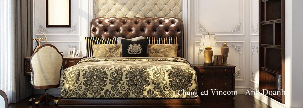 Thiết kế nội thất phòng ngủ chung cư Vincom Bà Triệu Lê Đại Hành Hai Bà Trưng Hà Nội