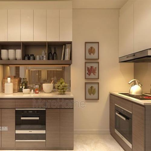 Tủ bếp gỗ công nghiệp laminate tại chung cư ngoại giao đoàn