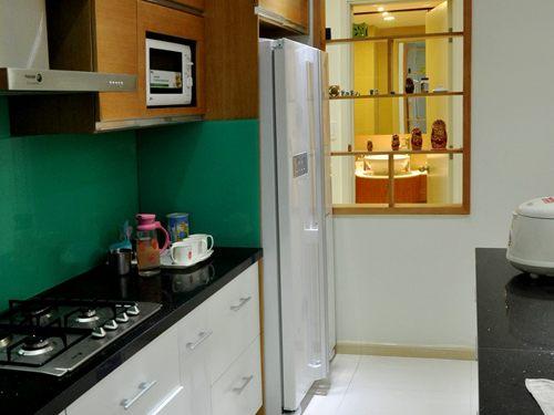 Kính màu ốp bếp - xanh ngọc Licoglass