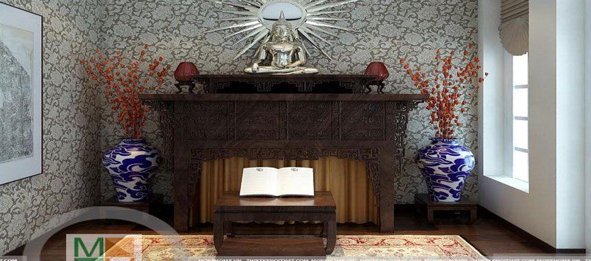 Bàn thờ Phật gỗ tự nhiên cao cấp - Mẫu 07