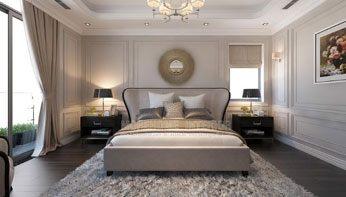 Mẫu giường ngủ tân cổ điển đẹp cho biệt thự tại Imperia Garden