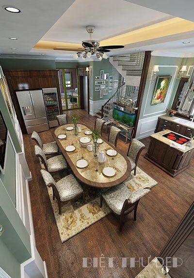 Thiết kế phòng bếp biệt thự Nguyễn Chí Thanh