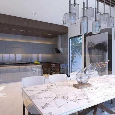 Thiết kế phòng bếp biệt thự Việt Hưng