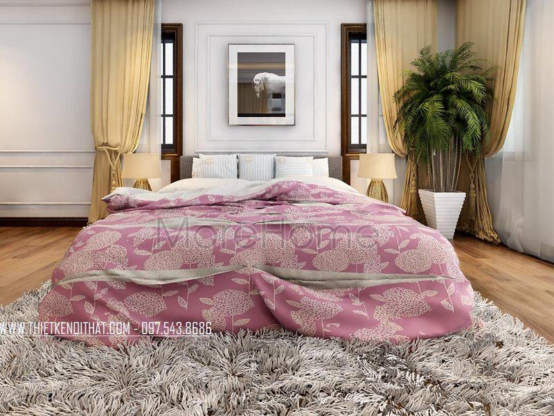 Nội thất phòng ngủ khách sạn 5 sao - mẫu 01